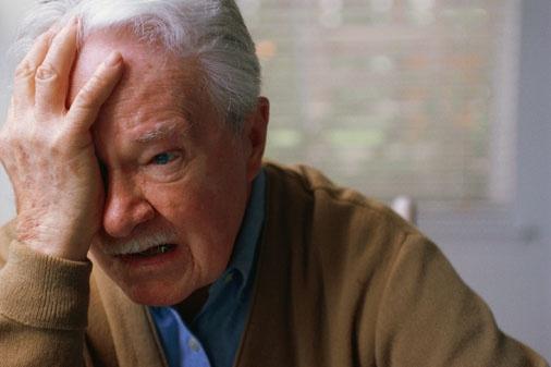 Distressed senior - Stopping Elder Abuse!