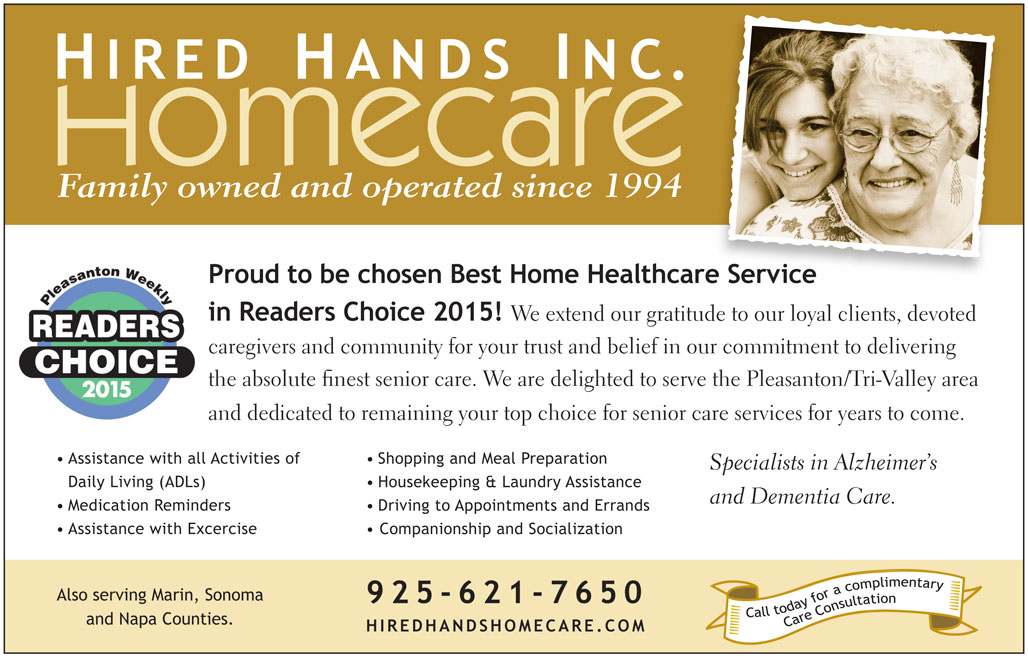 Pleasanton Readers Choice Ad