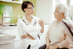 senior doctor visits