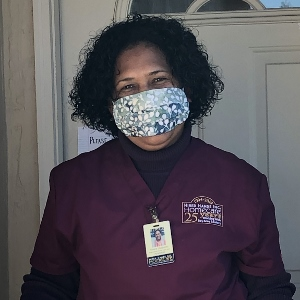 masked caregiver