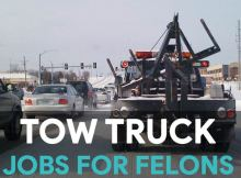Jobs for felons as a tow truck driver
