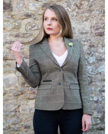 Cavani Albert Brown Womens Tweed Blazer - Suit & Tailoring