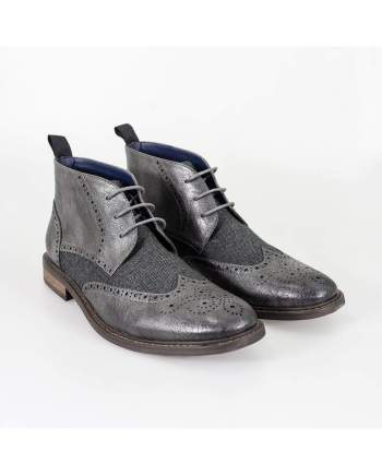 Cavani Curtis Grey Mens Leather Boots - UK7 | EU41 - Boots