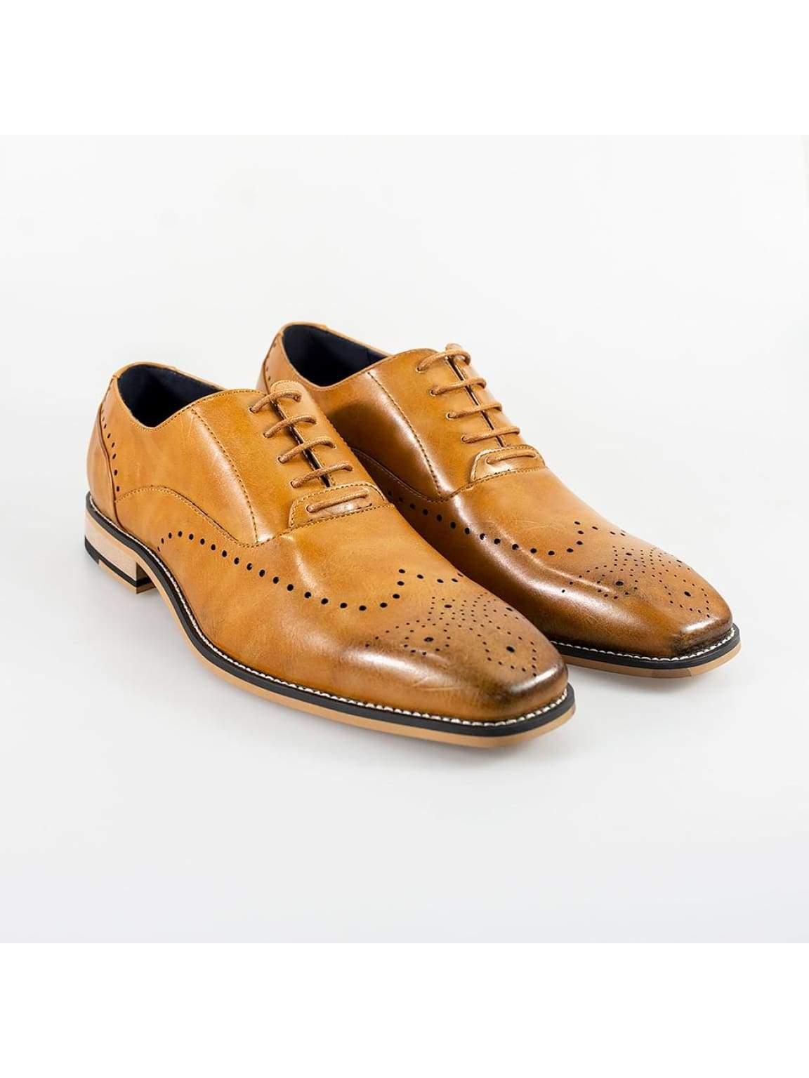 Cavani Fabian Mens Tan Shoe - UK7 | EU41 - Shoes