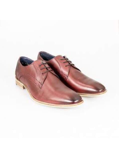 Cavani John Wine Mens Leather Shoes - UK6   EU40 - Shoes