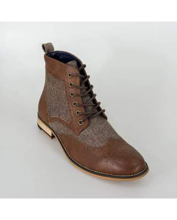 Cavani Sherlock Brown Mens Leather Boots - UK7 | EU41 - Boots