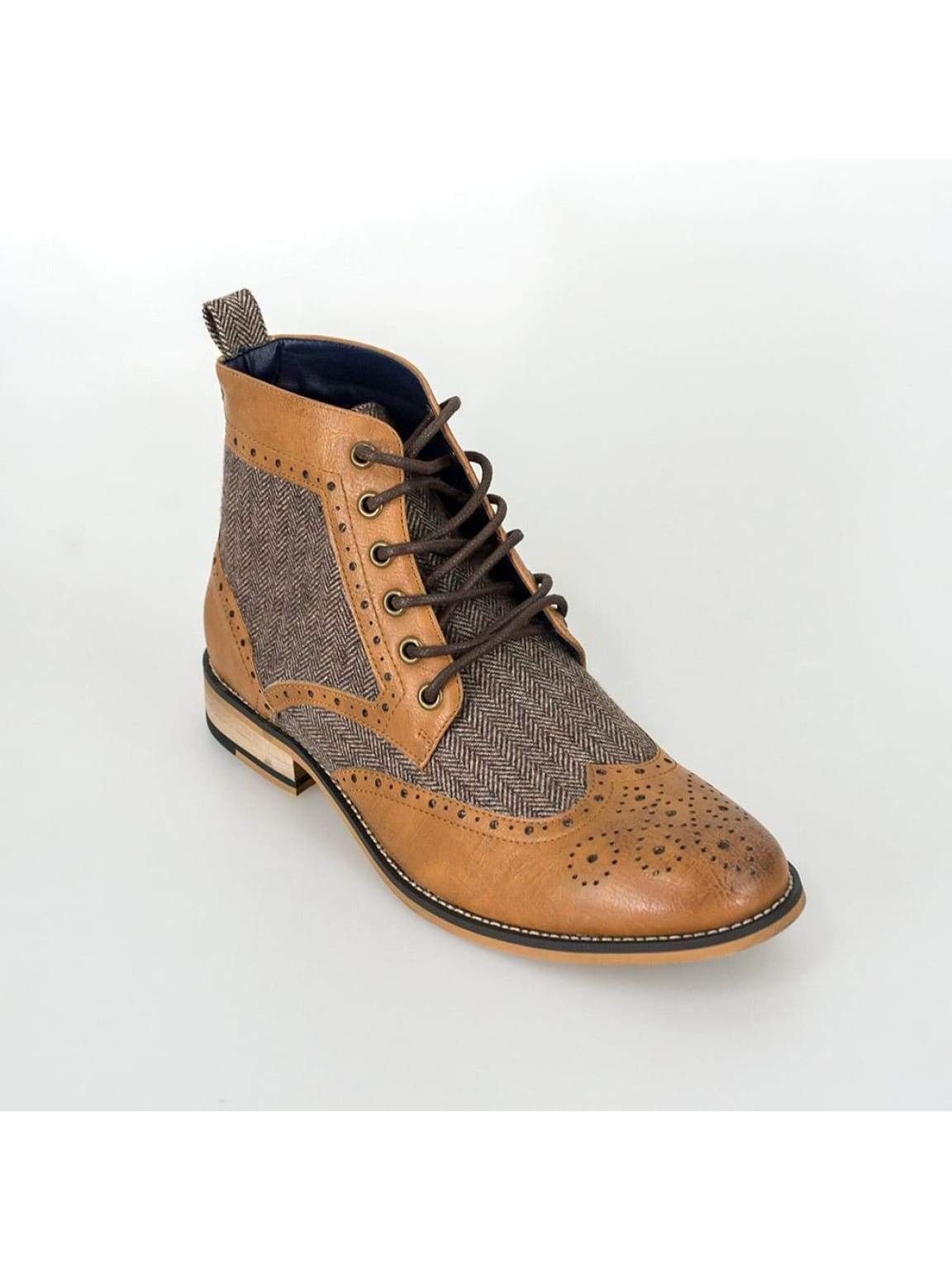 Cavani Sherlock Tan Mens Leather Boots - UK7   EU41 - Boots
