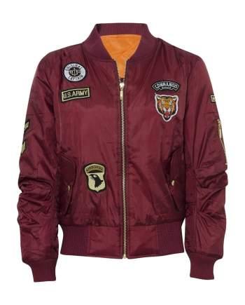 Celebrity Badged Classic Padded Bomber Jacket In Wine - XS - Shirts