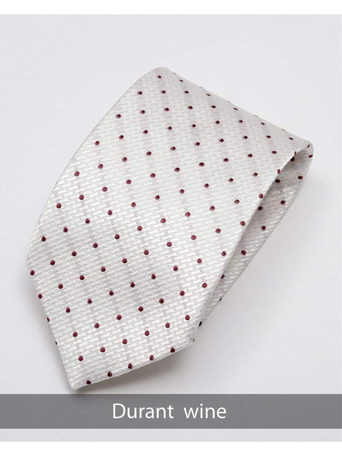 Heirloom Durant Mens Wine Dotted Tie - Accessories