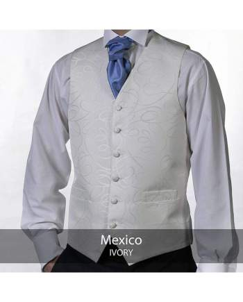 Heirloom Mexico Mens Ivory Luxury 100% Wool Tweed Waistcoat - 34R - WAISTCOATS