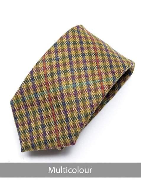 Heirloom Multicolour Mens Checked Tie - Accessories