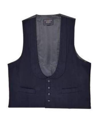 L A Smith Blue Wedding Tails Scoop Waistcoat - M - Suit & Tailoring