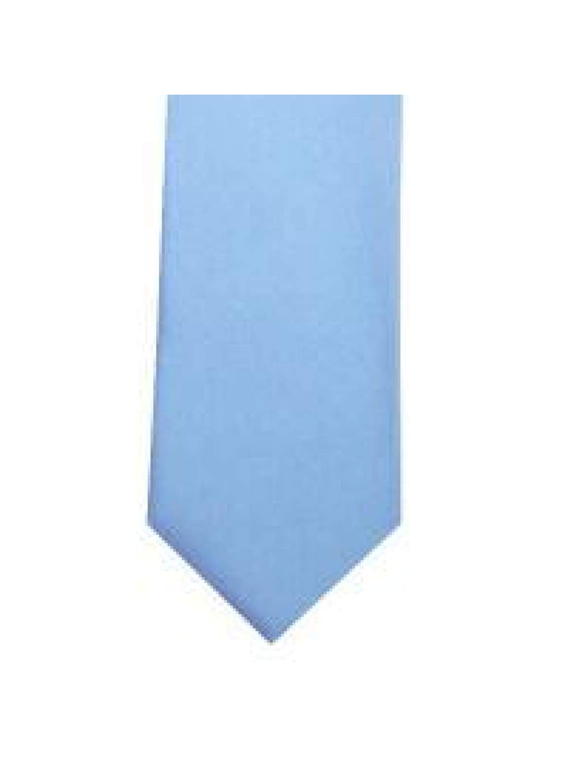LA Smith Baby Blue Skinny Weft Satin Tie - Accessories