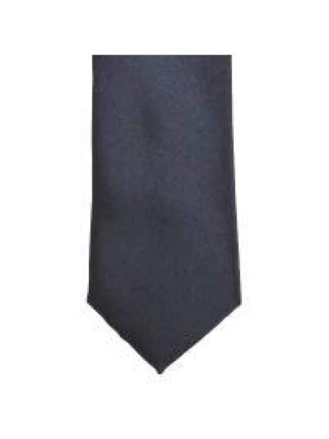 LA Smith Charcoal Skinny Weft Satin Tie - Accessories