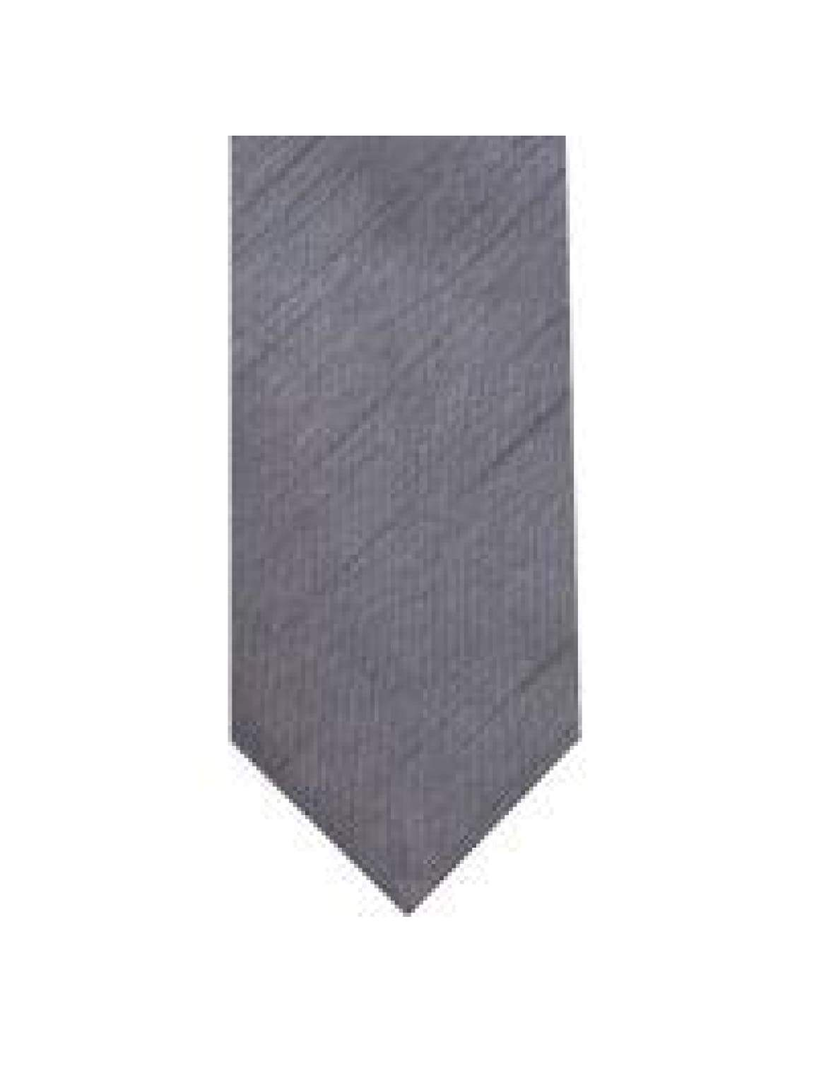 LA Smith Grey Skinny Shantung Tie - Accessories