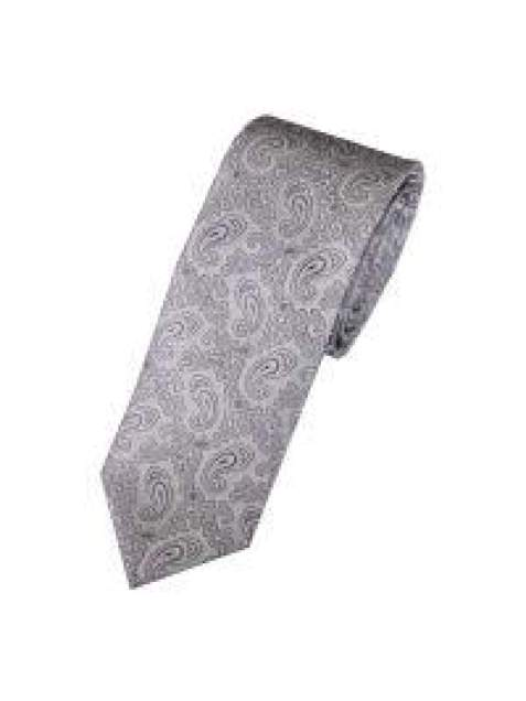 LA Smith Lilac Skinny Paisley Tie - Accessories