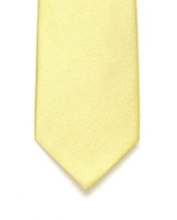 LA Smith Plain Ivory Silk Tie - Accessories