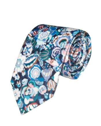 Liberty Fabric Gatsby Garden Purple Cotton Tie - Accessories