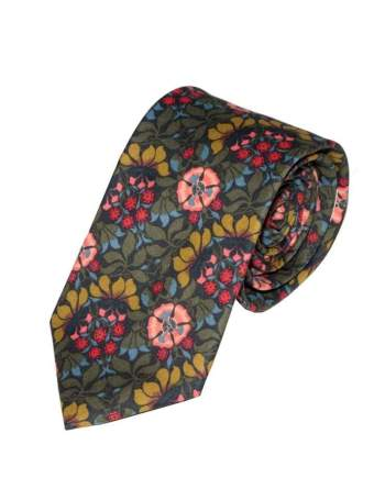 Liberty Fabric Persephone Green Cotton Tie - Accessories