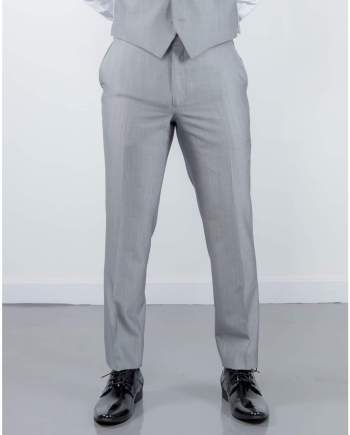 Torre Mens Light Weight Light Grey Mohair Trousers - 32S - Suit & Tailoring