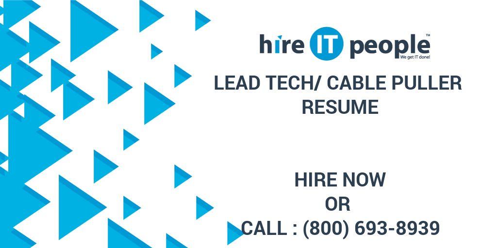 Wiring Technician Resume