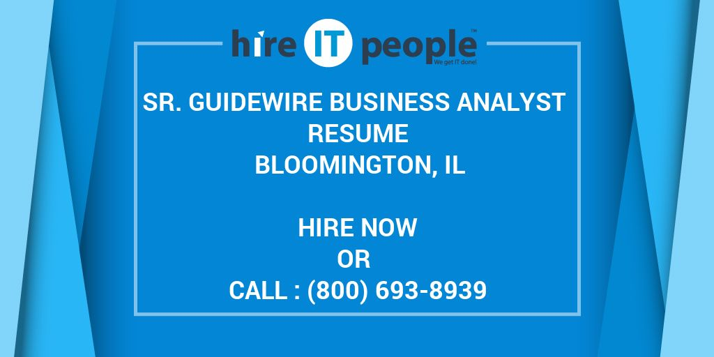 guidewire claimcenter sample resume