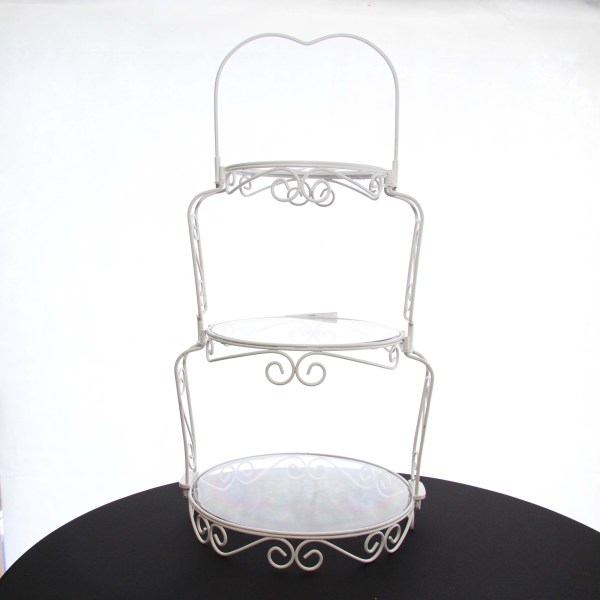Cake Stand Wrought Iron White 3 Tier Harrisons