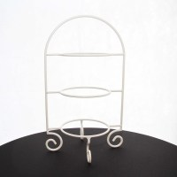 Cake Plate Stand 3 Tier White (55cm H)