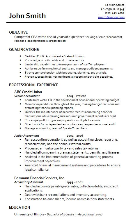 Accounting Resume Samples Accountant Resume Sample And Tips