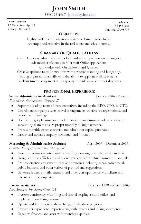 Administrative Resume Sample Hire Me 101