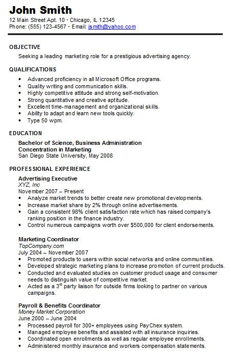 Marketing Resume Sample Hire Me 101