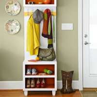 Narrow Coat Rack Bench With Shoe Storage - Tradingbasis