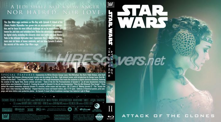 Custom DVD Cover Art - Blu-ray CUSTOM Covers - S / Star Wars Episode II:
