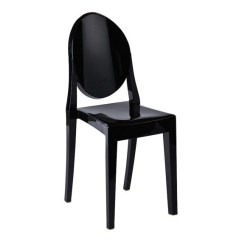 Black Ghost Chair Hire With Leg Support Victoria Society