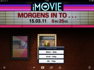 iMovie App - Exportqualitäten