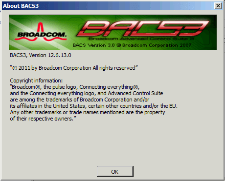 In meinem Fall habe ich das BACS3 in Version 12.6.13.0 genommen