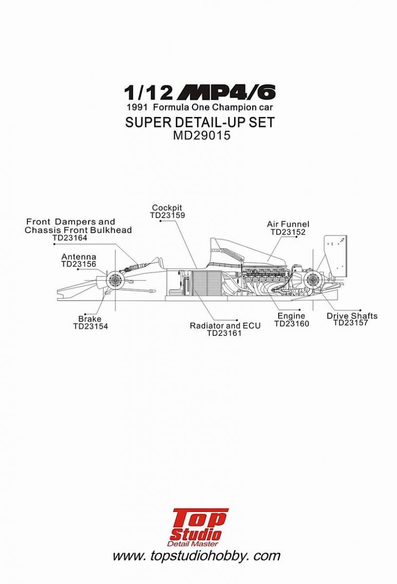 hight resolution of  1 12 mclaren mp4 6 super detail up set