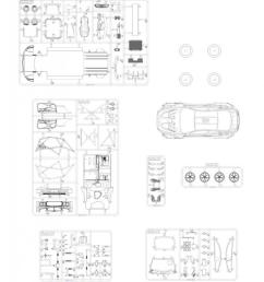 1 24 bmw m6 gt3 rowe racing team model kit by platz  [ 977 x 1200 Pixel ]