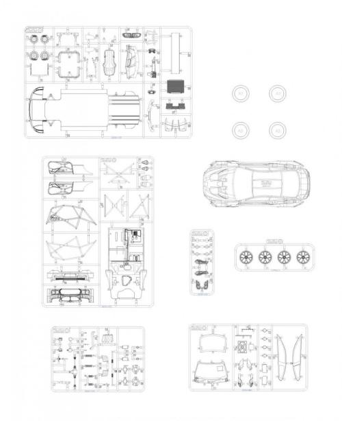 small resolution of  1 24 bmw m6 gt3 rowe racing team model kit by platz