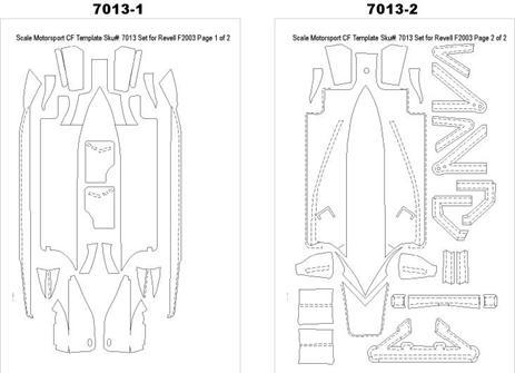 1:24 Ferrari F2003 GA Composite Fiber Decal Template Set