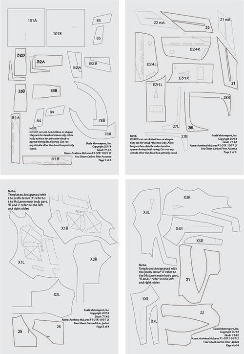 1:24 McLaren F1 GTR 1997 Full Carbon Jacket (for Aoshima