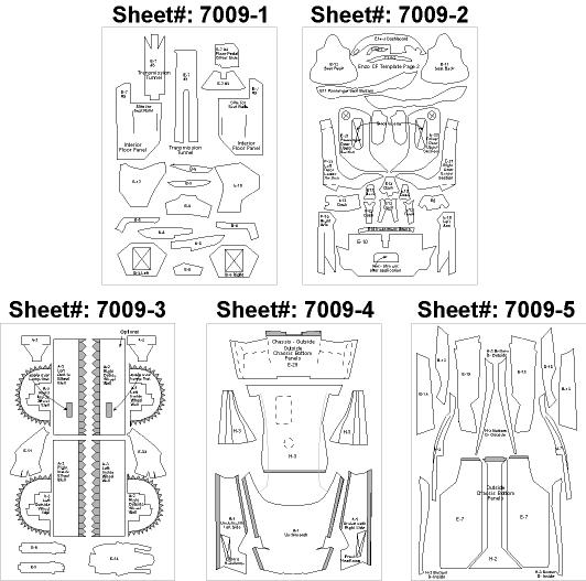 1:24 Ferrari Enzo Composite Fiber Decal Template Set #7009