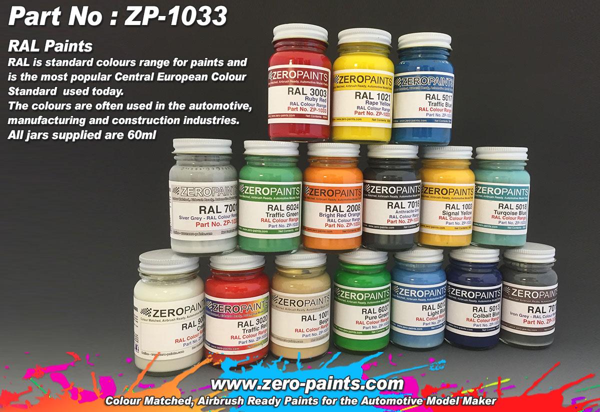 RAL Paints European Standard Colour Range 60ml  ZP1033