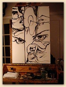 artist sketch, mono tone drawing,emotion sketch, hiroko sakai