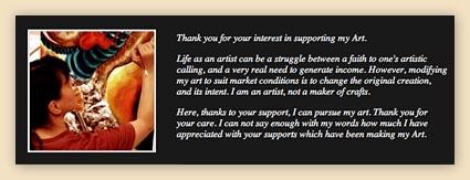 support artist, support hiroko, support art