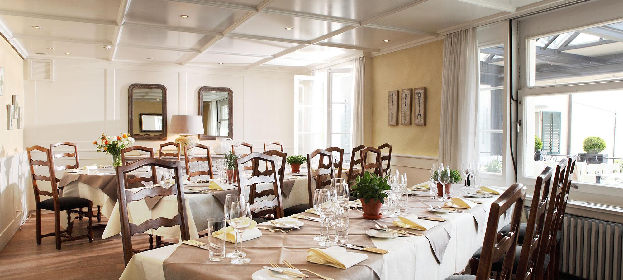Hirschen Restaurant Meilen Zurich Bankett Bankette seminarräume sitzungszimmer banketträume bsprechungsräume seminar