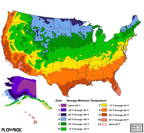 Temperature map usa