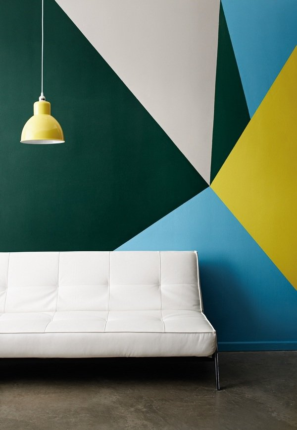 Wall Painting Ideas Geometric Wall Pattern Contemporary Home Decor Hirshfield S