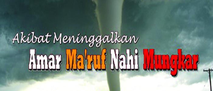 Tidak Mau Beramar Ma'ruf Nahi Munkar