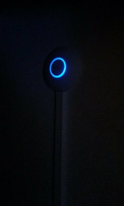 A blue glowing indicates that everything is fine.